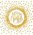 Gold calligraphic inscription Merry Christmas vector image vector image