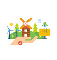 green energy ecology clean planet landscape vector image