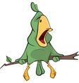 Green parrot cartoon vector image vector image