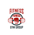 gym icon of dumbbell for fitness sport club design vector image vector image