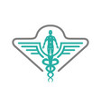 health symbol logo design and people vector image vector image