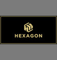 hk hexagon logo design inspiration vector image vector image