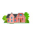 house flat icon vector image vector image
