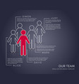infographic our team company modern set vector image vector image