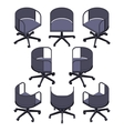 Isometric office spinning chair vector image vector image