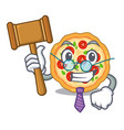 judge margherita pizza in mascot shape vector image vector image