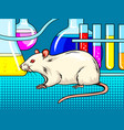 laboratory mouse pop art style vector image vector image