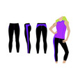ladies legging template vector image vector image