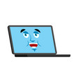 laptop happy emoji face avatar computer lucky vector image vector image
