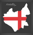 leicestershire map england uk with english vector image vector image