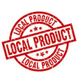 local product round red grunge stamp vector image vector image