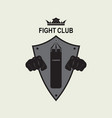 logo fight club vector image