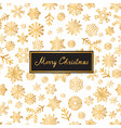 merry christmas lettering greeting card snow vector image vector image