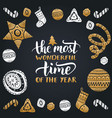most wonderful time year vector image