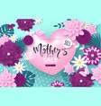 mothers day sale bannerbackground with blossom vector image