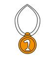 number one medal design vector image vector image