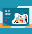 online library banner vector image vector image