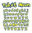 poket moon font colorful letters for your game vector image vector image