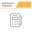 pos terminal editable stroke line icon vector image