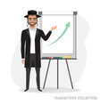 presentation on flip chart paper vector image