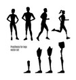 prosthesis for legs silhouettes vector image
