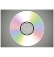 Realistic CD or DVD disk front view isolated vector image vector image