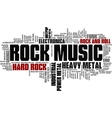 Rock Music Styles Word Cloud Bubble Tag Tree vector image vector image