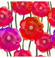 Seamless pattern of poppies EPS 10 vector image