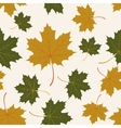 seamless with autumn maple leaves vector image vector image