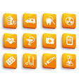 set of medical buttons vector image vector image