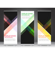 set of vertical abstract display banner stand