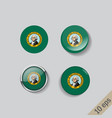 set round buttons with image washington vector image vector image