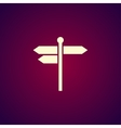 signpost icon Flat design style vector image vector image