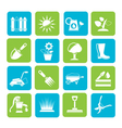 Silhouette Gardening tools and objects icons vector image