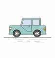 small car on white background vector image vector image