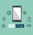 smartphone with big data icons vector image vector image
