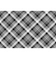 tartan plaid black white fabric texture seamless vector image vector image