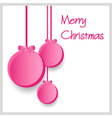 three pink paper christmas decoration baubles vector image vector image