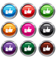 thumbs up set 9 collection vector image vector image