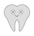 tooth dental symbol cartoon smiling cartoon vector image vector image