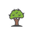 tree colorful icon nature simple vector image vector image