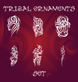 tribal design elements and tattoo ornaments set vector image vector image