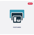 two color postcards icon from museum concept vector image