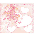Valentines tree background vector image