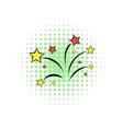 Wedding salute comics icon vector image vector image