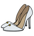 white high heel shoes vector image vector image