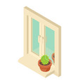 window icon isometric style vector image vector image