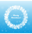 winter wreath snowflakes new year or christmas vector image vector image
