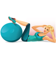 Woman Doing Crunches vector image
