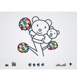 colourful bear vector image